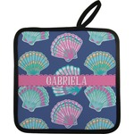 Preppy Sea Shells Pot Holder w/ Name or Text