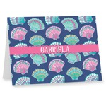 Preppy Sea Shells Note cards (Personalized)