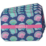 Preppy Sea Shells Dining Table Mat - Octagon w/ Name or Text
