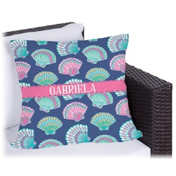 Preppy Sea Shells Outdoor Pillow (Personalized)