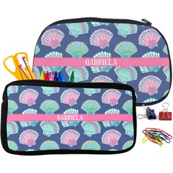 Preppy Sea Shells Pencil / School Supplies Bag (Personalized)