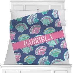 Preppy Sea Shells Minky Blanket (Personalized)