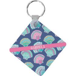 Preppy Sea Shells Diamond Key Chain (Personalized)