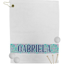 Preppy Sea Shells Golf Towel (Personalized)