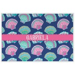 Preppy Sea Shells Laminated Placemat w/ Name or Text