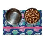 Preppy Sea Shells Pet Bowl Mat (Personalized)