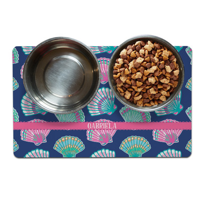 Preppy Sea Shells Dog Food Mat (Personalized)