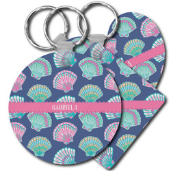 Preppy Sea Shells Plastic Keychains (Personalized)
