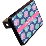 """Preppy Sea Shells Rectangular Trailer Hitch Cover - 2"""" (Personalized)"""