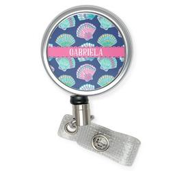 Preppy Sea Shells Retractable Badge Reel (Personalized)
