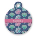 Preppy Sea Shells Round Pet Tag (Personalized)