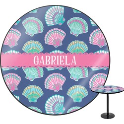 Preppy Sea Shells Round Table (Personalized)