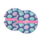 Preppy Sea Shells Sandstone Car Coasters (Personalized)