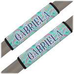 Preppy Sea Shells Seat Belt Covers (Set of 2) (Personalized)