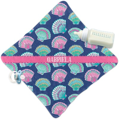 Preppy Sea Shells Security Blanket (Personalized)