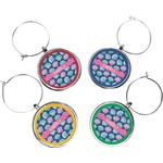 Preppy Sea Shells Wine Charms (Set of 4) (Personalized)