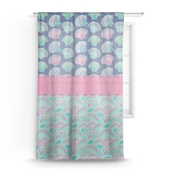 Preppy Sea Shells Sheer Curtains (Personalized)