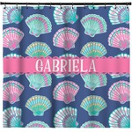 Preppy Sea Shells Shower Curtain (Personalized)
