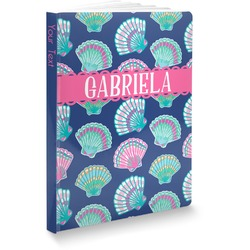 Preppy Sea Shells Softbound Notebook (Personalized)