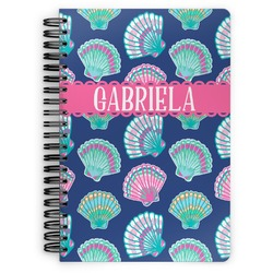 Preppy Sea Shells Spiral Bound Notebook (Personalized)