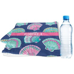 Preppy Sea Shells Sports & Fitness Towel (Personalized)