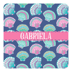 Preppy Sea Shells Square Decal - Medium (Personalized)