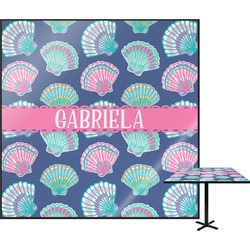 Preppy Sea Shells Square Table Top (Personalized)