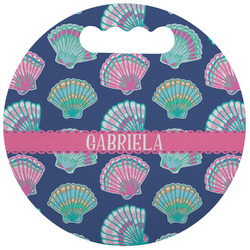Preppy Sea Shells Stadium Cushion (Round) (Personalized)