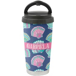 Preppy Sea Shells Stainless Steel Coffee Tumbler (Personalized)
