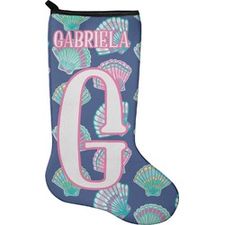 Preppy Sea Shells Christmas Stocking - Neoprene (Personalized)