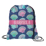 Preppy Sea Shells Drawstring Backpack (Personalized)