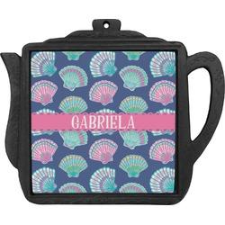 Preppy Sea Shells Teapot Trivet (Personalized)
