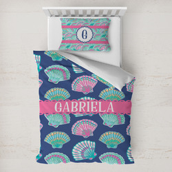 Preppy Sea Shells Toddler Bedding w/ Name or Text
