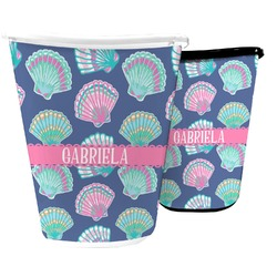 Preppy Sea Shells Waste Basket (Personalized)