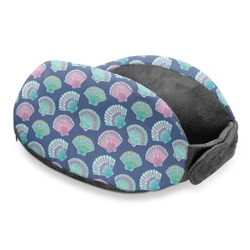 Preppy Sea Shells Travel Neck Pillow (Personalized)