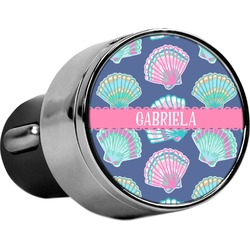 Preppy Sea Shells USB Car Charger (Personalized)