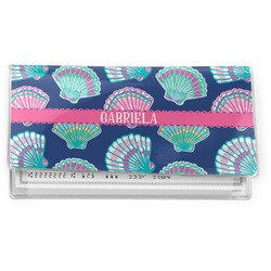 Preppy Sea Shells Vinyl Checkbook Cover (Personalized)