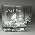 Preppy Sea Shells Whiskey Glasses (Set of 4) (Personalized)