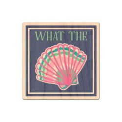 Preppy Sea Shells Genuine Maple or Cherry Wood Sticker (Personalized)