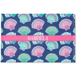 Preppy Sea Shells Woven Mat (Personalized)