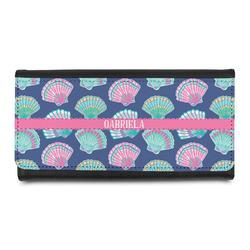 Preppy Sea Shells Leatherette Ladies Wallet (Personalized)