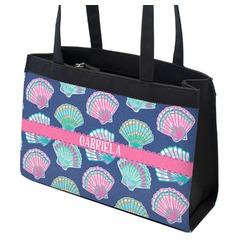 Preppy Sea Shells Zippered Everyday Tote (Personalized)