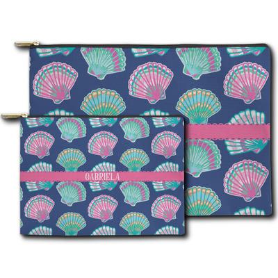 Preppy Sea Shells Zipper Pouch (Personalized)