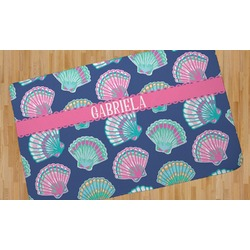 Preppy Sea Shells Area Rug (Personalized)