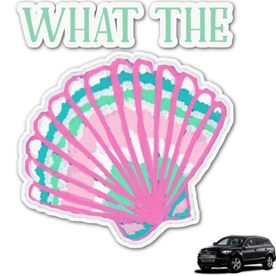 Preppy Sea Shells Graphic Car Decal (Personalized)
