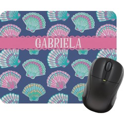 Preppy Sea Shells Mouse Pad (Personalized)