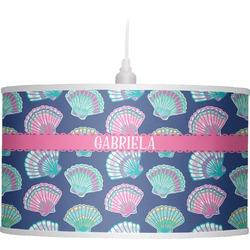 Preppy Sea Shells Drum Pendant Lamp (Personalized)