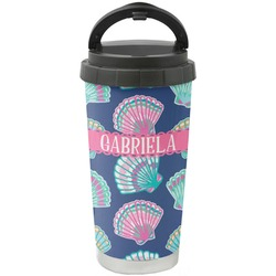 Preppy Sea Shells Stainless Steel Travel Mug (Personalized)