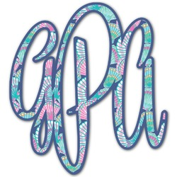 Preppy Sea Shells Monogram Decal - Custom Sizes (Personalized)