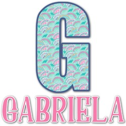 Preppy Sea Shells Name & Initial Decal - Custom Sized (Personalized)